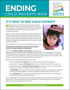 Ending Child Poverty Brief Cover