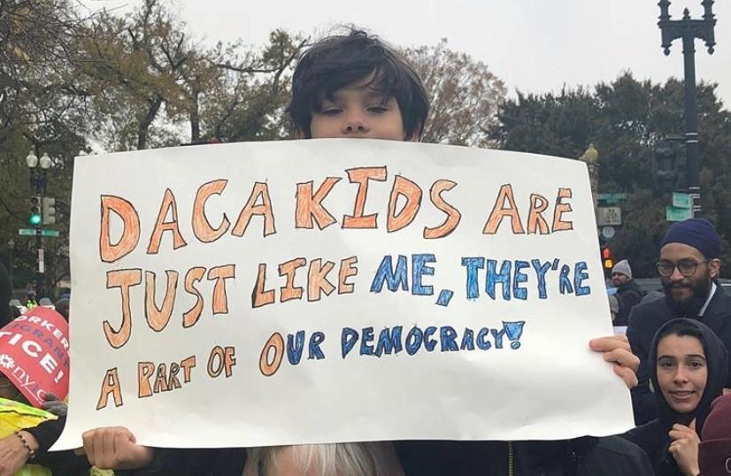 Child at DACA Rally